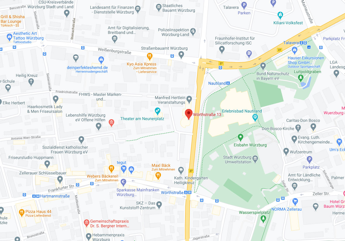 Anfahrtsskizze - google Maps